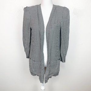 Leslie Fay Collection Houndstooth Open Blazer